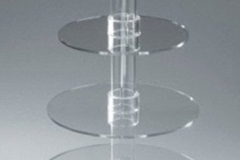 Elegant 4 layer crystal plexiglass wedding cupcake stand$